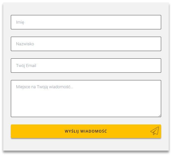 Na obrazku został pokazany przykładowy formularz kontaktowy ze strony eStartupy